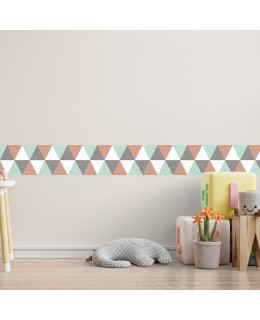 Трицветни равнини - фриз за стена