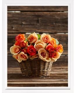 Рози в кошница