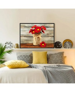 Червени Хризантеми - Картина