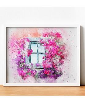 Прозорец с цветя