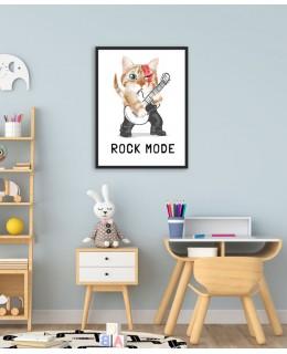 Rock Mode - постер с рамка