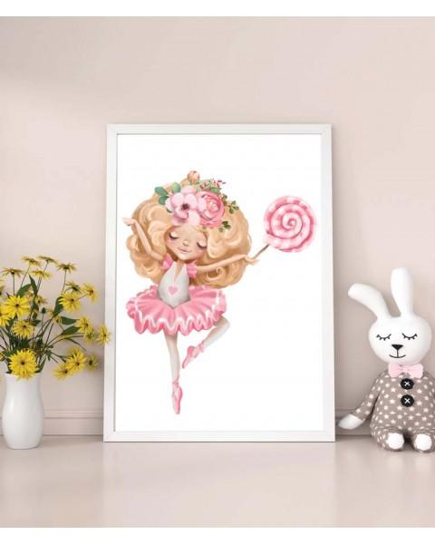 My tutu - Балерина 3, постер с рамка
