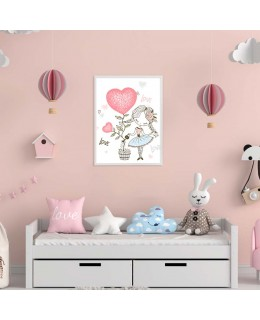 Детство с обич - постер с рамка