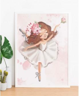 My tutu - Балерина 1, постер с рамка