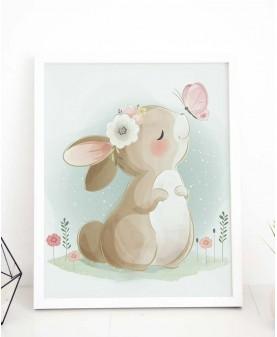 Сладко зайче - постер с рамка