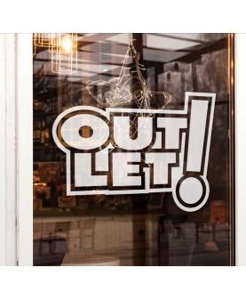 Надпис Outlet