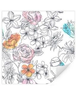 Врабче и цветове