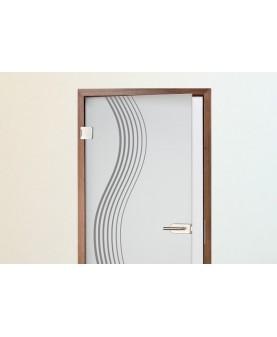 Плавна вълна - 2 бр. стикери за врата