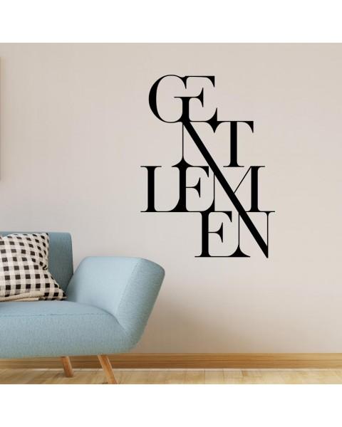 Надпис Gentlemen