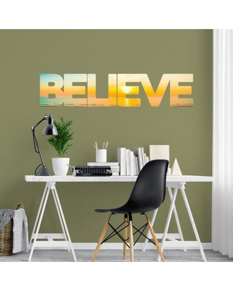 Believe надпис