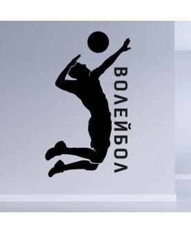 Волейбол с надпис