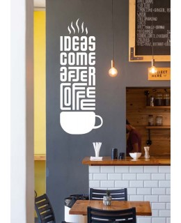 Ideas come after coffee