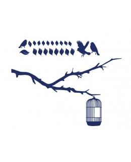 Клонче с птички и клетка