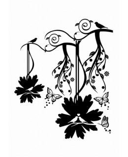 Лоза с птици и пеперуди