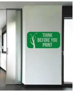 Think Before Printing