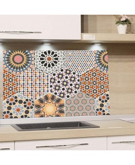 Андалусия Хексагони - Алуминиев протектор за кухня