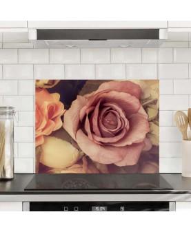 Кадифени рози - Алуминиев протектор за кухня