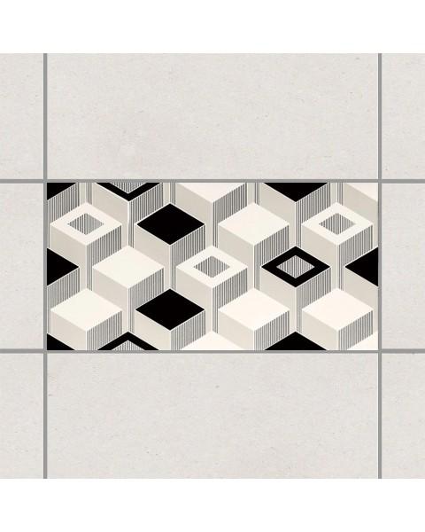 3D - кубове черно и бяло