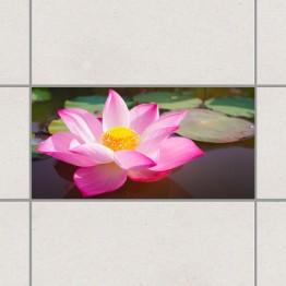 Красив лотос - деко стикери за плочки
