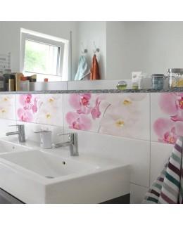 Нежна орхидея - деко стикери за плочки