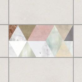 Триъгълници - деко стикери за плочки