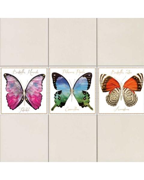 Пеперуди Фарфала - стикери за плочки, 3 бр.