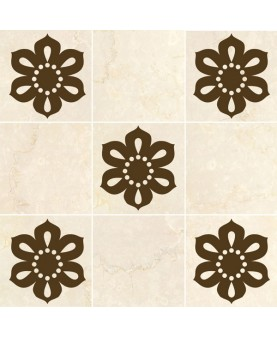 Стикери за плочки - Перлено цвете 8 бр.