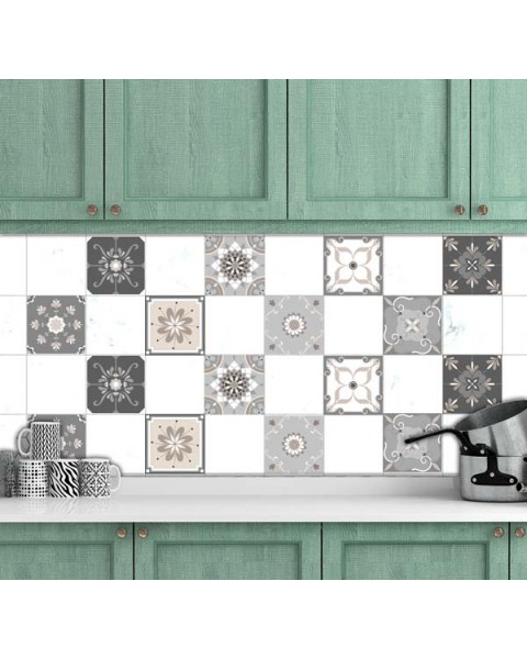 Стикери за плочки - Микс дизайн 8 бр.