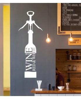 Бутилка с отварачка за вино