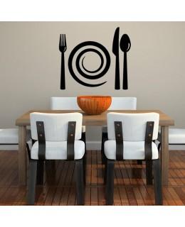 Прибори за хранене и спираловидна чиния