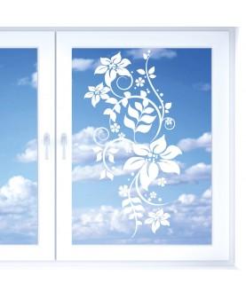 Цветен орнамент - стикер за стъкло