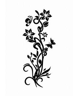Пълзящи цветя и пеперуди фрост