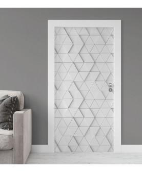 3D текстура триъгълници - стикер за врата