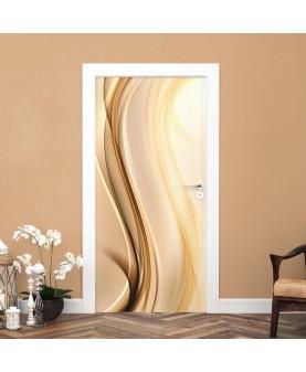 3D вълни, лате́ - стикер за врата