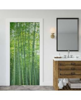 Бамбукова гора - фототапет за врата