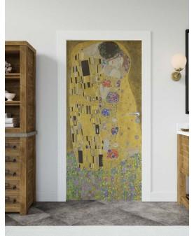 Целувката Густав Климт - стикер за врата