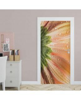 Цвете макро фото - стикер за врата
