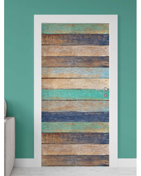 Цветни дъски - стикер за врата