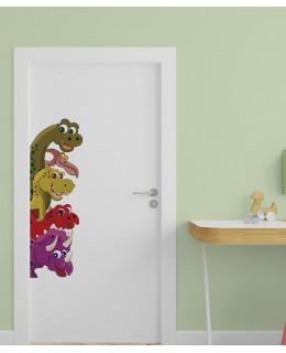 Динозаври - детски стикер за врата