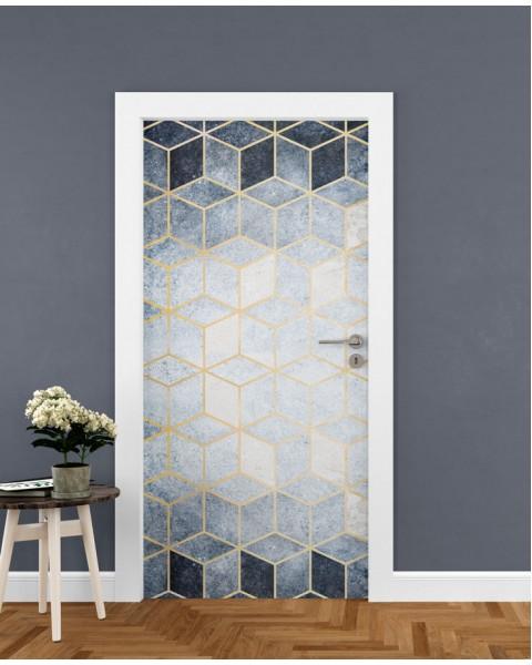 Хексагони текстура - стикер за врата
