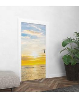 Морски изгрев - фототапет за врата