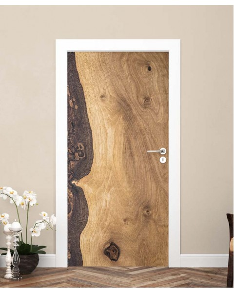 Масив дърво - стикер за врата