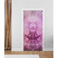 Медитация - стикер за врата
