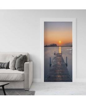 Красив залез - стикер за врата