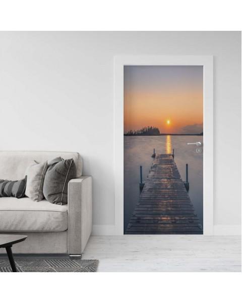 Красив залез - фототапет за врата