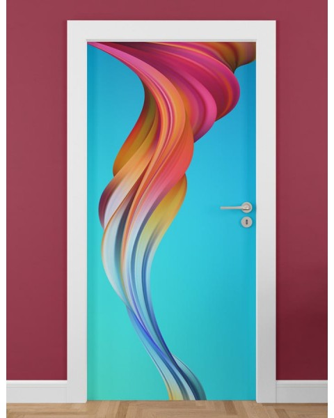 Абстрактен ефект - стикер за врата