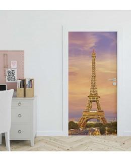 Айфелова кула - фототапет за врата