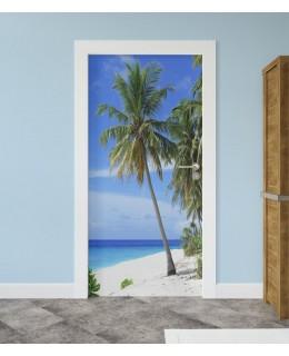 Екзотичен плаж - фототапет за врата