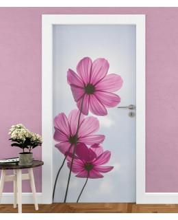 Космос цвете - стикер за врата