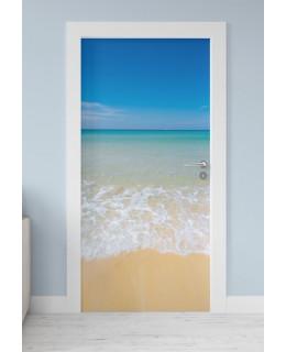 Синева - фототапет за врата